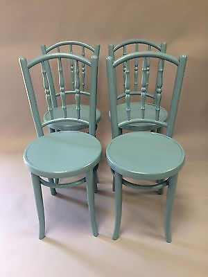 Four Painted Bentwood Kitchen Chairs