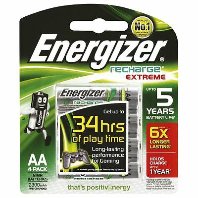 New Energizer AA Rechargeable Batteries 8 Pack 2300mAh Ni-MH Battery 1.5V