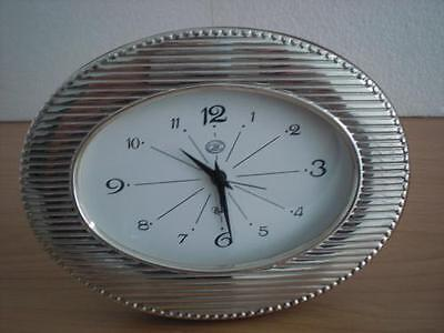 SOLID STERLING SILVER TABLE WATCH CLOCK 9x13*OVAL  USA new