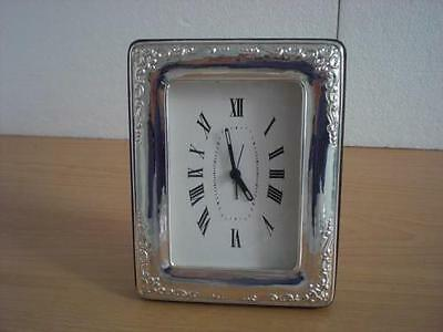 SOLID STERLING SILVER TABLE WATCH CLOCK 9x13*1010  USA new