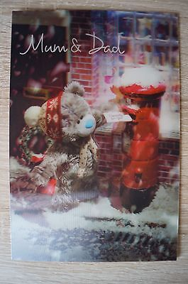 """3D Christmas cards from Me to You """"Mum & Dad"""""""