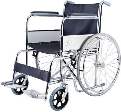 LIGHTWEIGHT FOLDING DRIVE Manual Medical Wheelchair w/ Footrest Transport  Chair