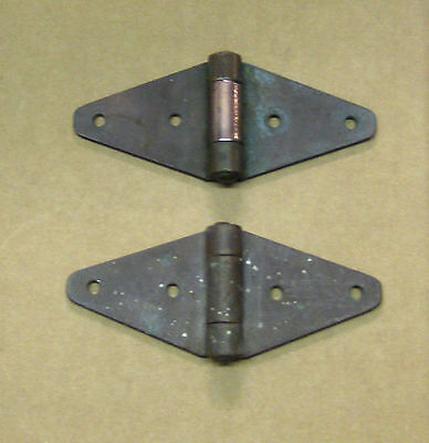 antique copper  hinges 6 X 3 handmade - pair