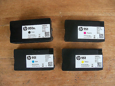 (Lot Of 4) Fresh Empty Virgin Genuine Hp 950Xl,951 Ink Cartridges Never Refilled
