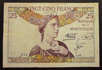 Martinique - 25 Francs - Série L.30 - 1938
