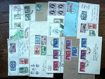 BASUTOLAND 1937-1959 FDC & commercial cover stamp/postmark/cancel collection
