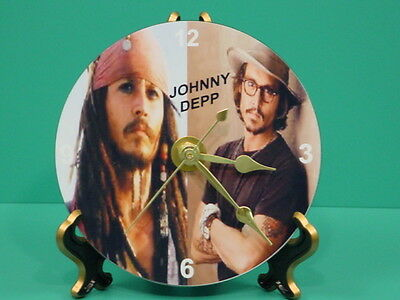 JOHNNY DEPP - Pirates of the Caribbean Photo Designer Collectible GIFT Clock 01