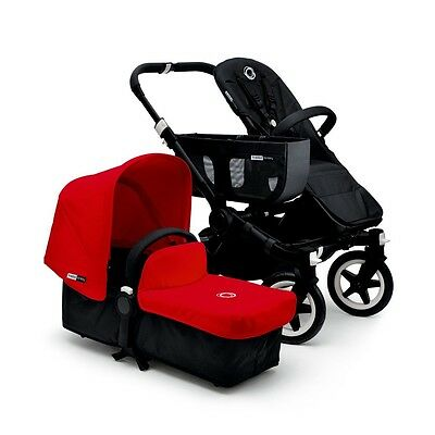 Bugaboo Donkey Stroller V1.1 MONO with Allu/Black Chassis + tailored set Red