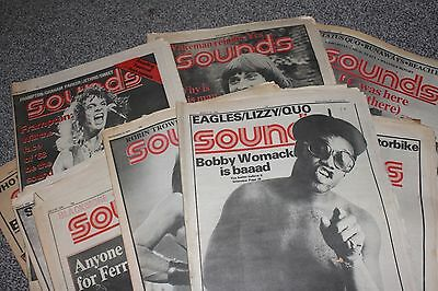 21 x Sounds Music Magazines From 1976