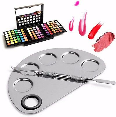 Pro Stainless Cosmetic Steel Makeup Palette Spatula Cream Foundation Mixing Tool