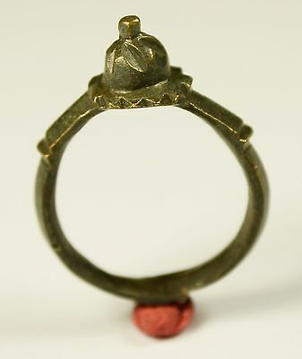 Perfect Late Roman Or Byzantine Ring With Crown Shaped Bezel - Wearable