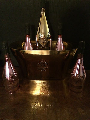 Large French Champagne Armand De Brignac , Ace Of Spades big Ice Bucket Gold F/S