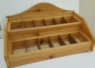Retail Display Box for Tumbled Stones - Wooden