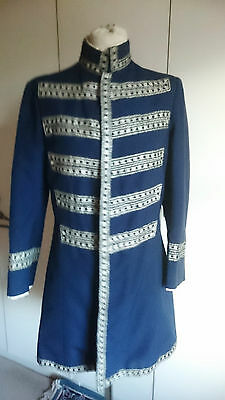 Vintage Victorian style theatrical military style suit black gold lurex small