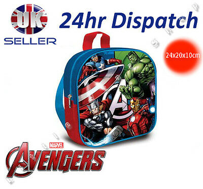 OFFICIAL Marvel AVENGERS Boys Rucksack Backpack School Bag Nursery 24x20x10cm