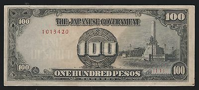 PHILIPPINES Money Japanese Japan Occupation REPLACEMENT BILL 100 PESOS