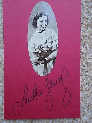 Loretta Young - American Actress - Signed