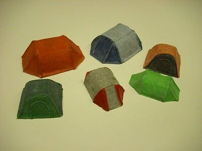 Wargames scenery. 6 piece modern tents. for 28mm.