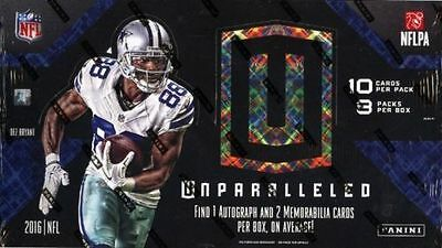 2016 Panini Unparalleled Football Sealed Hobby Box