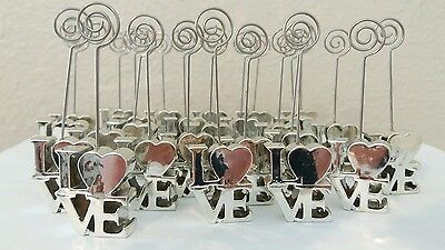 26 LOVE Table Name Place Number Card Holder Wedding Party Reception Memo Clip