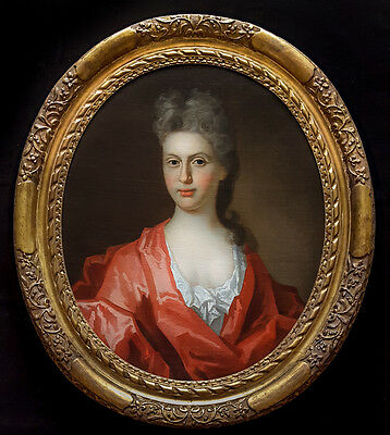 Large Fine 17th Century English Master Portrait of a Lady Antique Oil Painting
