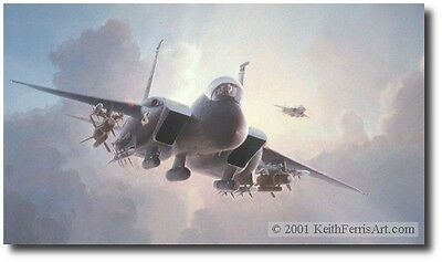 Nowhere to Hide by Keith Ferris - F-15E Eagle - Aviation Art Prints