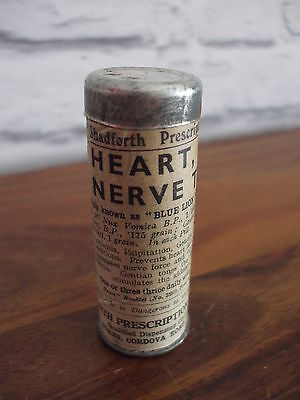Vintage Heart Stomach & Kidney & nerve Tonic   with contents