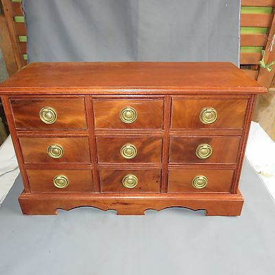 A Fine Quality Contemporary Mahogany Miniature Chest Of Drawers