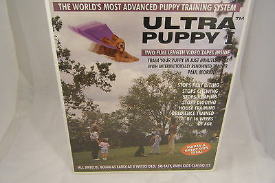Ultra Puppy 2 VHS Tape Set Dog Puppy Obedience Training FREE USA SHIPPING