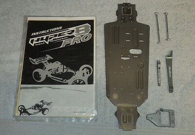 NEW VERY RARE HOBAO HYPER 8.5 PRO CNC ALLOY LWB +4mm CHASSIS & CONVERSION KIT