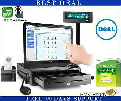 Dell Touch Screen Point of Sale System with QuickBooks POS Pro V12.0 Bundle