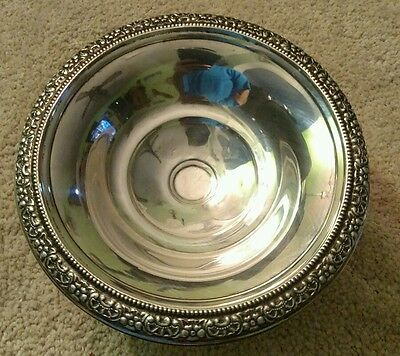 Antique Frank Whiting Botticelli Sterling Silver Compote Candy Dish Footed Bowl