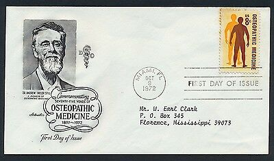 UNITED STATES OF AMERICA 1972 FIRST DAY COVER USA FDC #a109 MIAMI CANCEL!