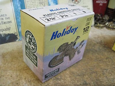 HOLIDAY shot gun SHELL BOX FULL SIZE  EMPTY PAPER SHOTGUN shot 12 gauge 8 DUCK