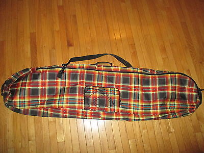 Burton 166cm Snowboard Bag Carrying Case - Red and Yellow Plaid