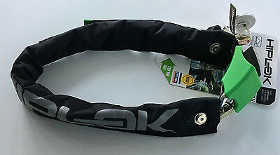 Hiplok V1.5 Wearable Chain Lock Portable Bicycle Security Lock Black and Green