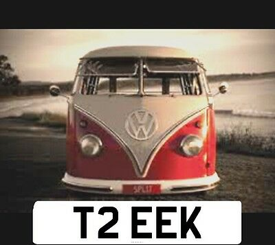 VW T2 CAMPER �� Private Plate [ T2 EEK ] DUBBER - Low , Peace , Barn Find ,resto
