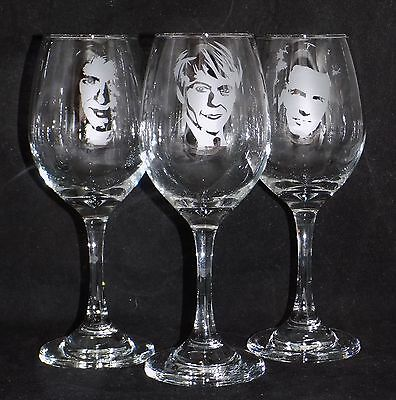 New 'Duran Duran' Hand Etched Large Wine Glass ~  Choose any Band Member (WM25)