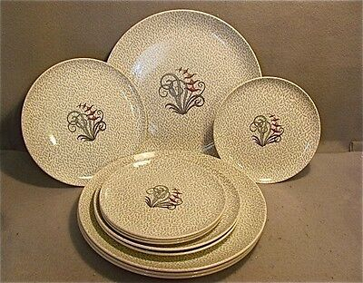 Copeland Spode 11 Piece Singing Grass China Pattern Made In England Green & Blue
