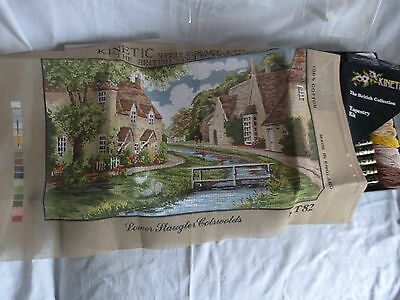 Vintage Tapestry Canvas & Wool Kit KINETIC Cotswold Lower Slaughter