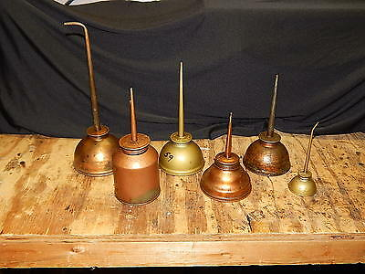 Lot of 6 Vintage Oil Cans- Eagle, other