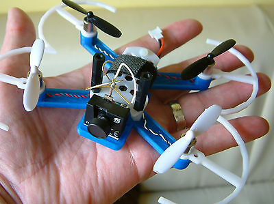 Micro Quadcopter FRAME for FPV - Requires Hubsan x4 Donor Parts - White