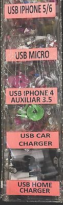 150 Pcs Cell Phone Acc Acrylic  Display Data Cables,Car Chargers ,Home Aux.