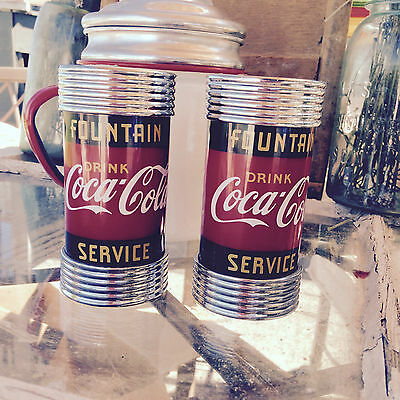 Soda fountain Coca-Cola Salt and Pepper Shakers