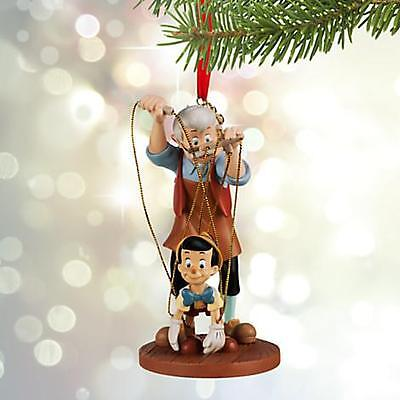 2015 Disney Store Tree Ornament Sketchbook Pinocchio & Geppetto NWT