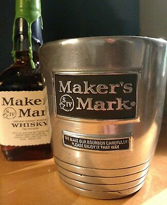 Maker's mark metal bucket