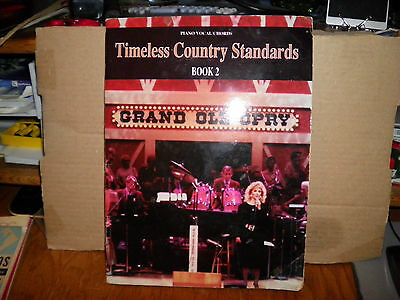 1991 Timeless Country Standards Book 2-Piano/vocal/chords