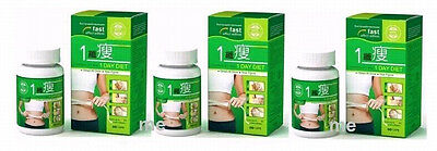 3 Bottles ONE DAY DIET 1 Day Diet 180 Pills Weight Lose Slimming Natural
