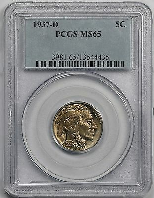 1937-D Buffalo Nickel 5C MS 65 PCGS