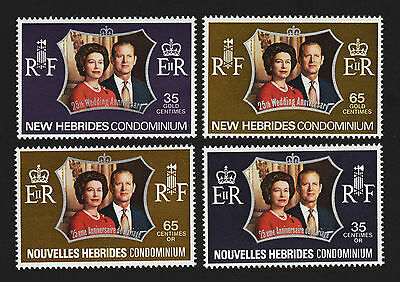 OPC 1972 New Herbrides British & French Silver Wedding Sets MNH